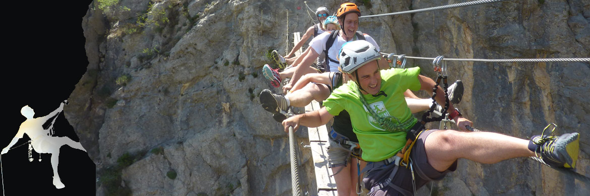 stage escalade via ferrata canyoning