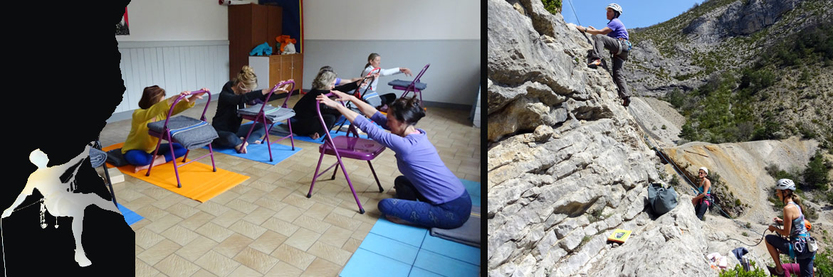 stage yoga escalade Orpierre